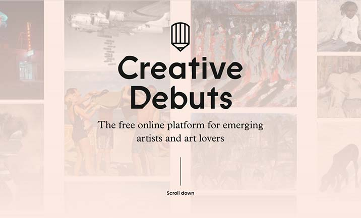 Creative Debuts website