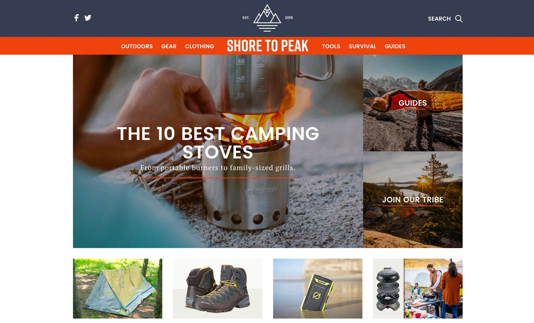 Shore To Peak website