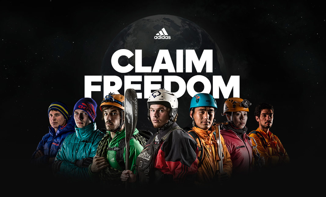 adidas CLAIM FREEDOM website