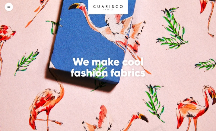Guarisco Fabrics website