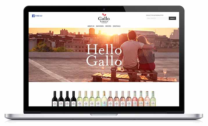 Gallo Family Vineyards website