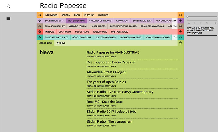 Radio Papesse website