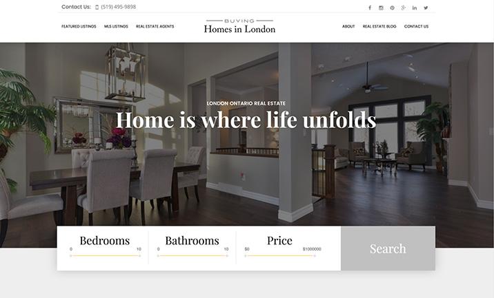 Buying Homes in London website