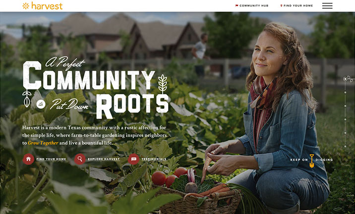 Harvest by Hillwood website