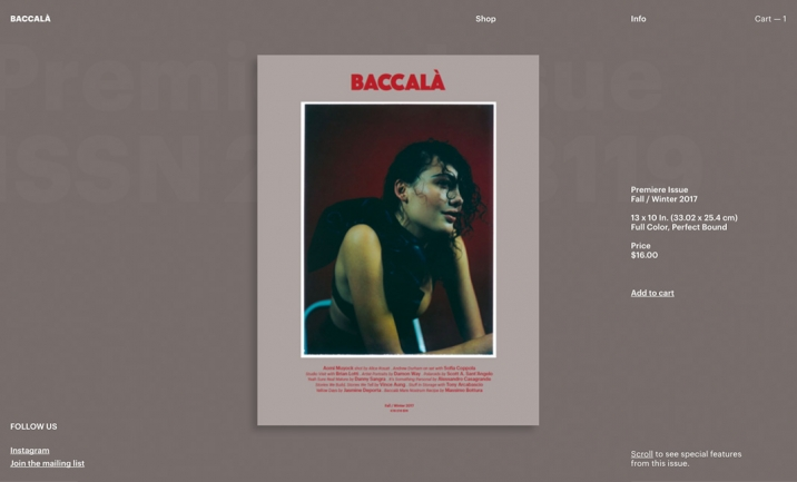 BACCAL� website