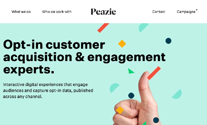 Peazie website