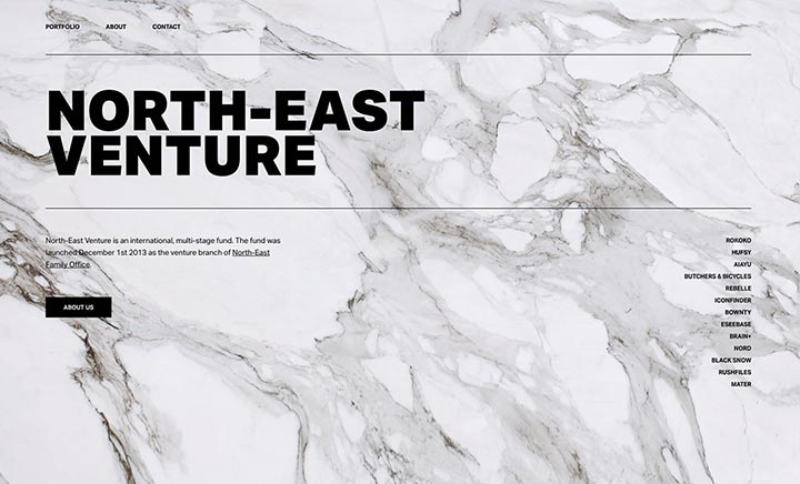 North-East Venture website