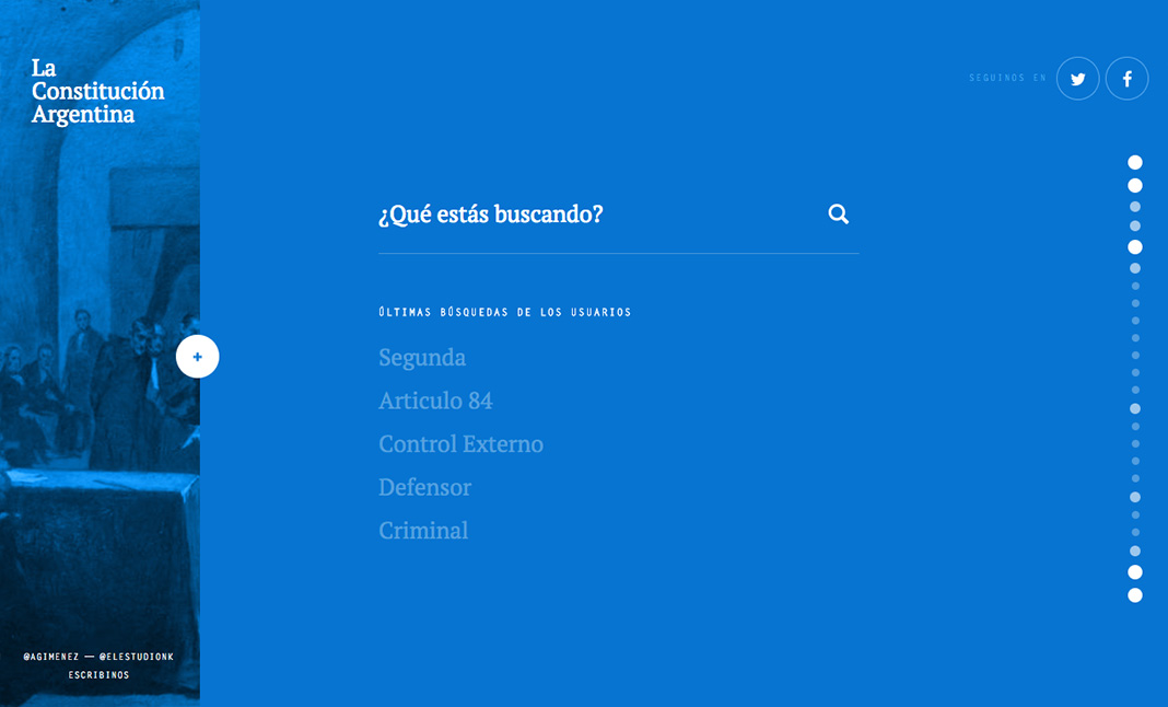 La Constitución website