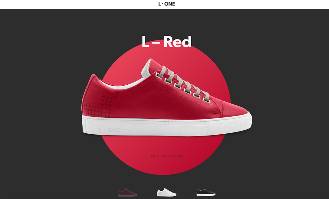 L-One Shoes website