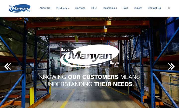 Manyan Inc. website