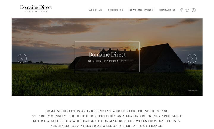 Domaine Direct website