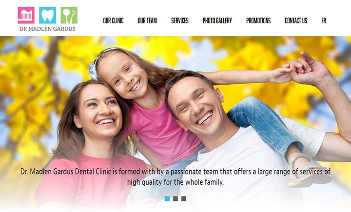 Dr. Madlen Gardus Dental Clinic website