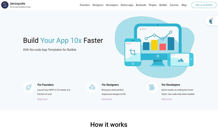 Build your App Up to 10x Faster website