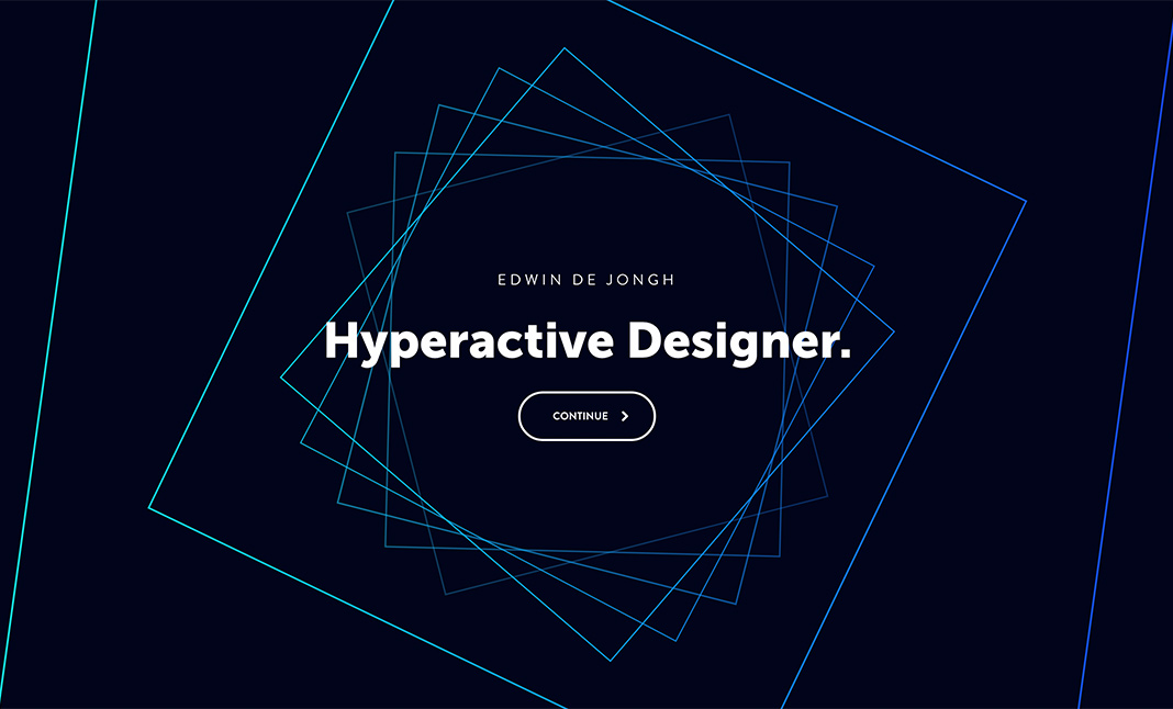 Portfolio of Edwin de Jongh website