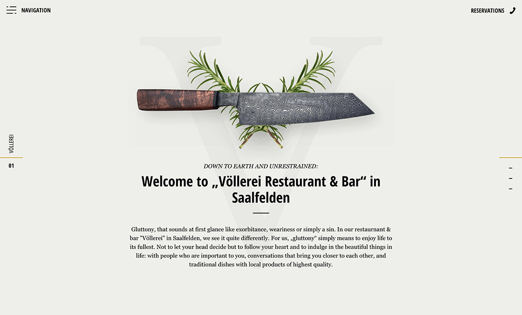 VÖLLEREI - Restaurant & Bar website