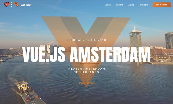 Vuejs Conference Amsterdam website