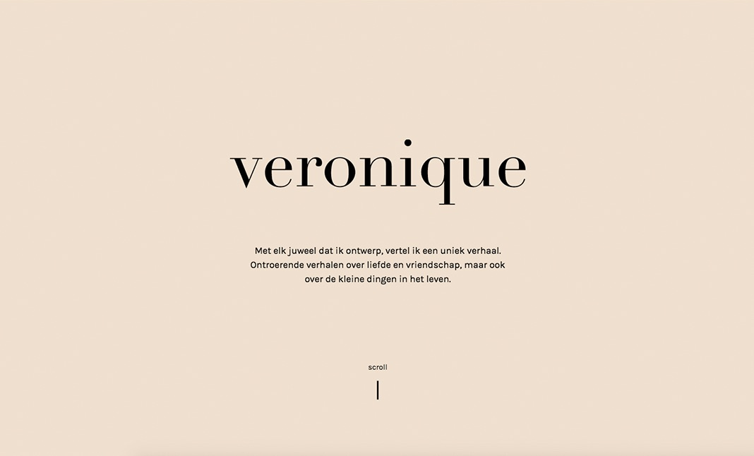 Veronique - Personalized Jewellery website