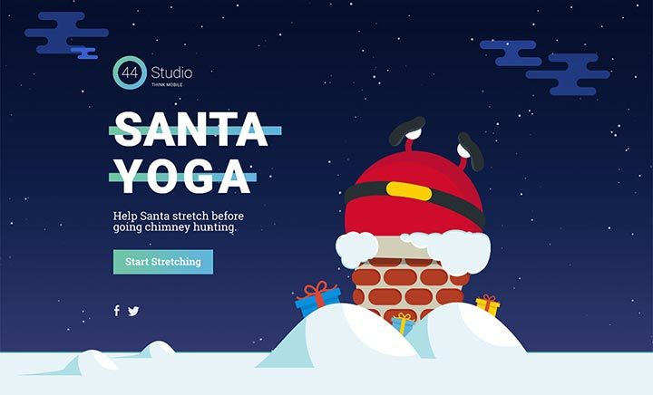 Santa Yoga website