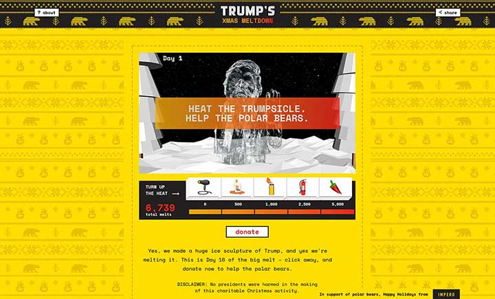 Trump's Xmas Meltdown website