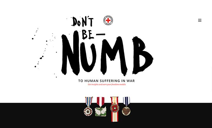 ICRC - Don't be numb website