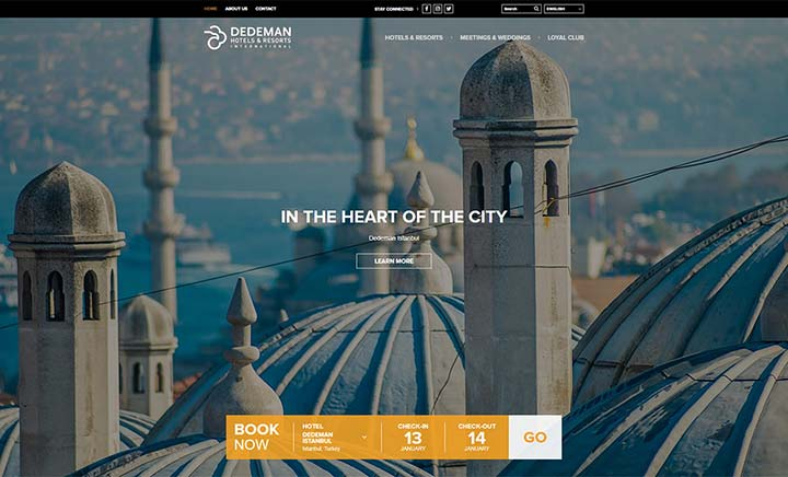 Dedeman Hotels & Resorts website