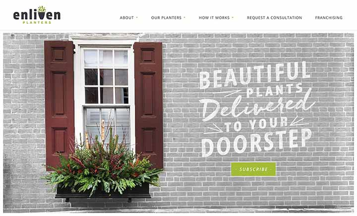Enliven Planters website