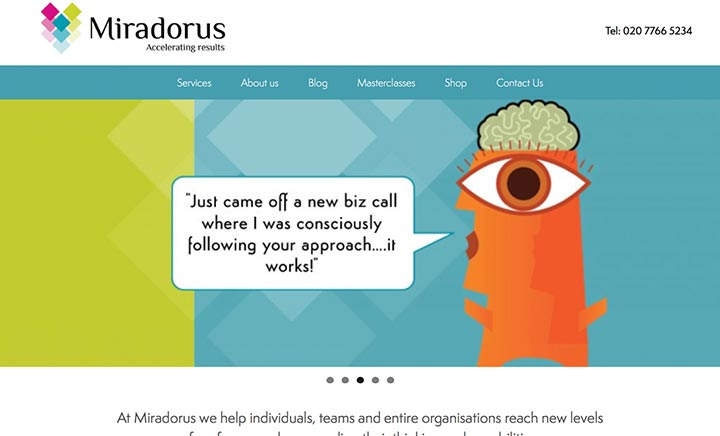 Miradorus Team Development website