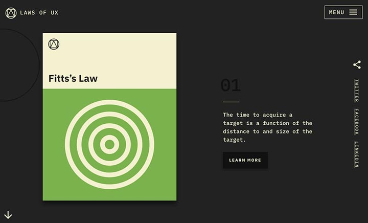 Laws of UX website