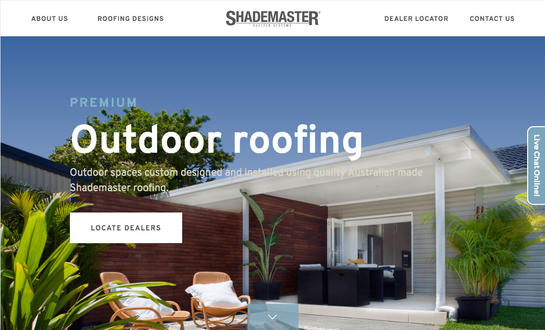 Shademaster website
