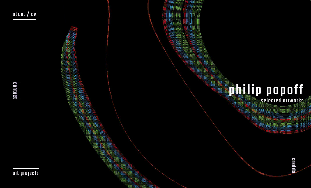 Philip Popoff Selected Artworks website
