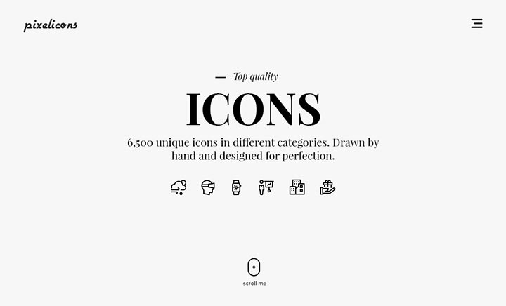 6,500 icons drawn by hand website
