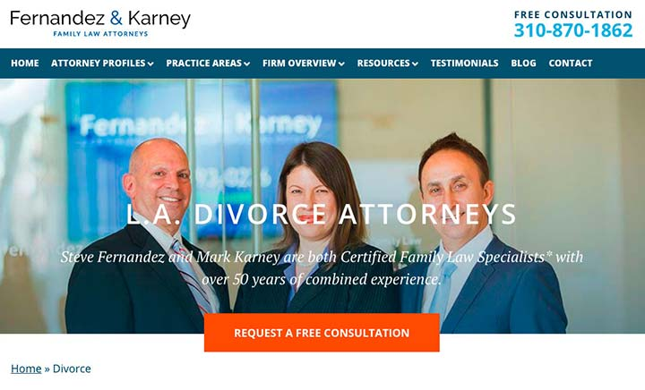 Fernandez Divorce Lawyers website