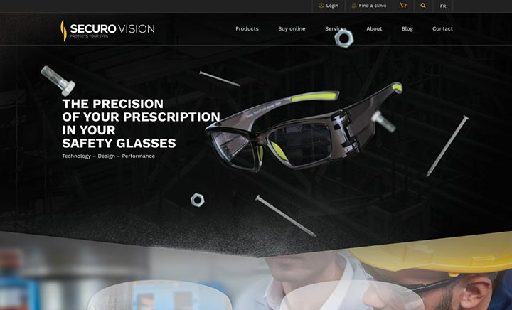 Securo Vision website