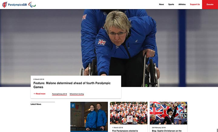 ParalympicsGB website