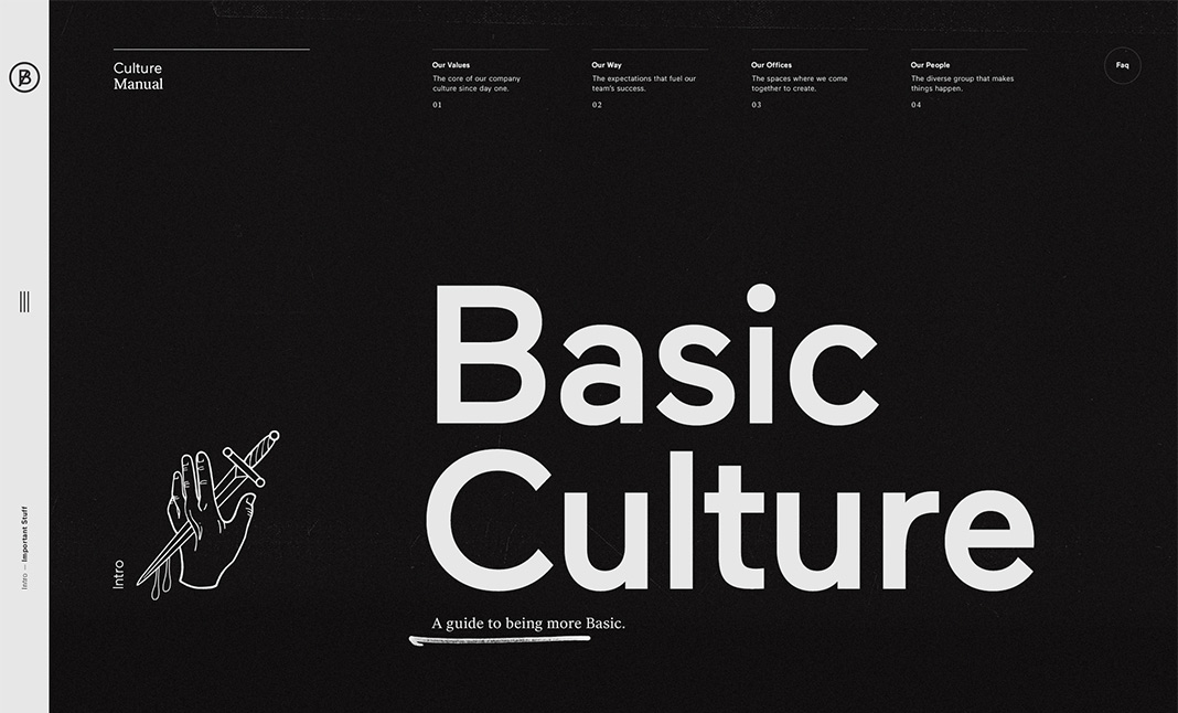 BASIC Culture Manual website