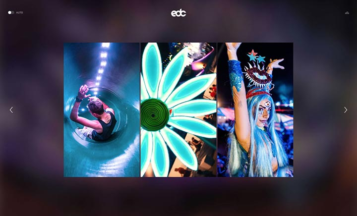 Electric Daisy Carnival website