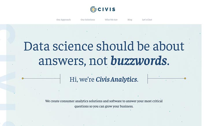 Civis Analytics website