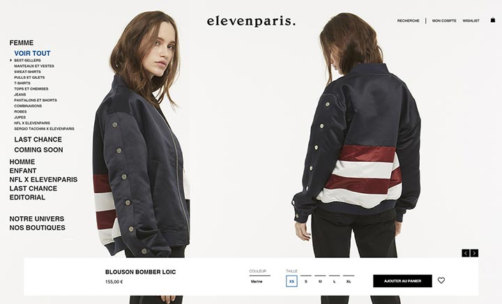 Eleven Paris website