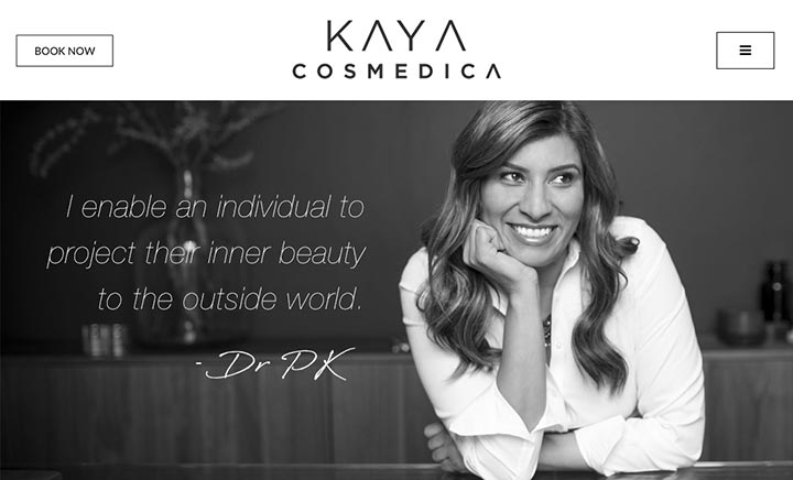 Kaya Cosmedica website