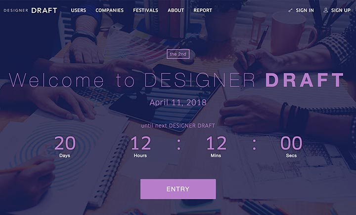 Designer Draft website