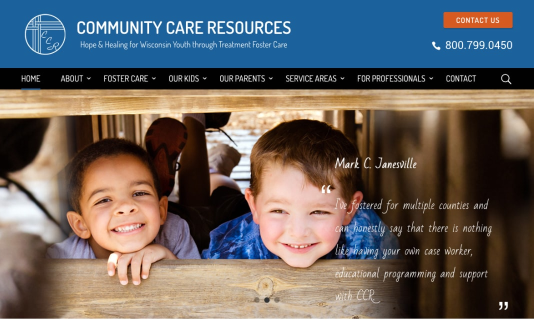 Community Care Resources website