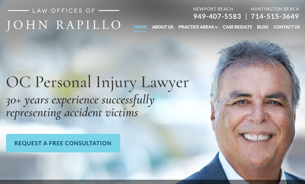 Law Offices of John Rapillo website