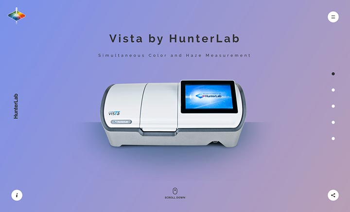 Vista by Hunterlab website