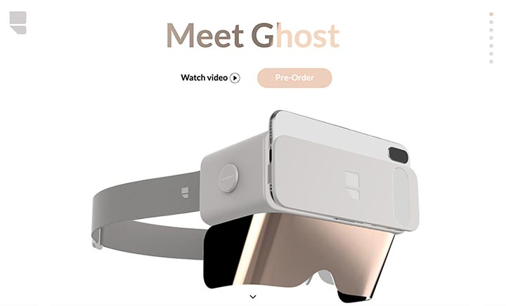 Ghost | A New Digital Experience website