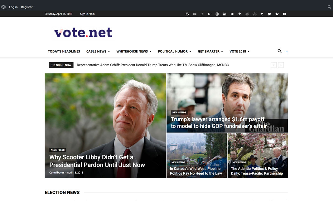 Vote.net - Make a Difference. website