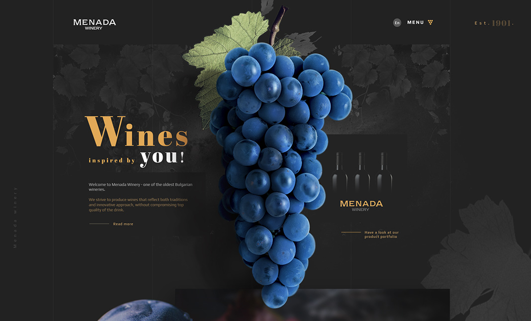Menada Winery website