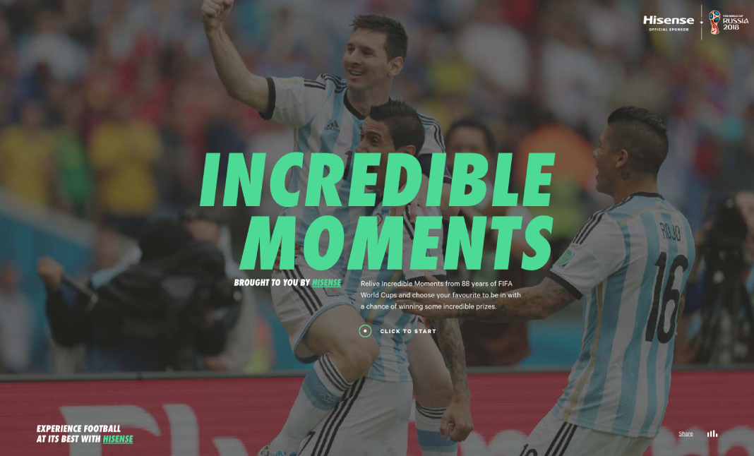 Incredible Moments website