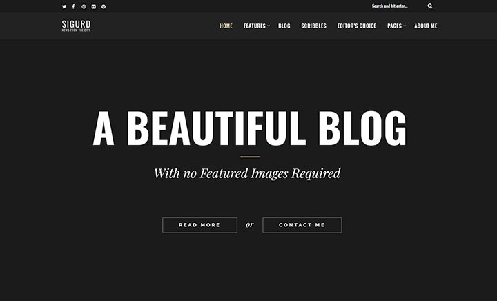 Sigurd – A WP Blog For Writers website