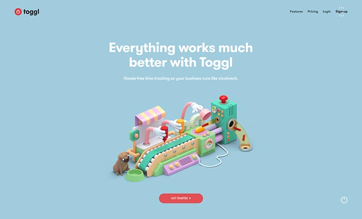 Toggl website