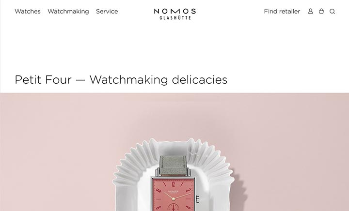 NOMOS Glashütte website